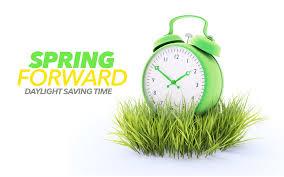 Daylight Savings Time Begins, Spring Forward!